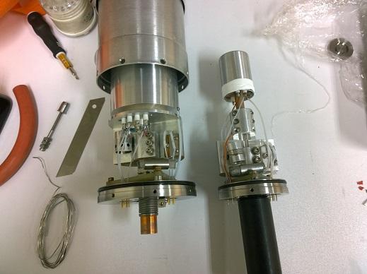 مقایسه ابعاد آشکارساز ژرمانیوم GLP و آشکارساز با راندمان ۷۵ درصد